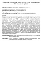 AMBIENTE DE INTEGRAÇÃO DA LEITURA AO LAZER: O CASO DA BIBLIOTECA DO IFSP - PRESIDENTE EPITÁCIO
