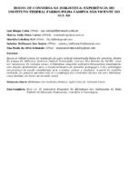 RODAS DE CONVERSA NA BIBLIOTECA: EXPERIÊNCIA DO INSTITUTO FEDERAL FARROUPILHA CAMPUS SÃO VICENTE DO SUL-RS