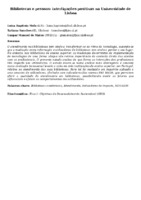 BIBLIOTECAS E PESSOAS: INTERLIGAÇÕES POSITIVAS NA UNIVERSIDADE DE LISBOA