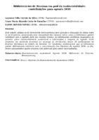 BIBLIOTECÁRIOS DE RORAIMA EM PROL DA SUSTENTABILIDADE: CONTRIBUIÇÕES PARA AGENDA 2030