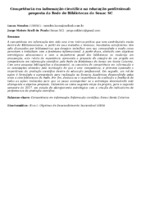 COMPETÊNCIA EM INFORMAÇÃO CIENTÍFICA NA EDUCAÇÃO PROFISSIONAL: PROPOSTA DA REDE DE BIBLIOTECAS DO SENAC SC