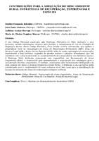 CONTRIBUIÇÕES PARA A ADEQUAÇÃO DO MEIO AMBIENTE RURAL: ESTRATÉGIAS DE RECUPERAÇÃO, EXPERIÊNCIAS E ESPÉCIES