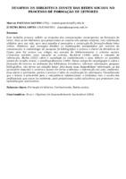 DESAFIOS DA BIBLIOTECA DIANTE DAS REDES SOCIAIS NO PROCESSO DE FORMAÇÃO DE LEITORES