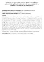 EFICIÊNCIA NO CONSUMO DE ENERGIA ELÉTRICA EM BIBLIOTECA UNIVERSITÁRIA: APLICANDO INDICADORES DE SUSTENTABILIDADE NA BIBLIOTECA DE CIÊNCIAS DA SAÚDE DA UFC