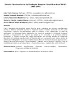 ESTUDO CIENTOMÉTRICO DA PRODUÇÃO TÉCNICO-CIENTÍFICA DOS CBSAF: 1994-2004