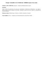 GRUPO CONTADORES DE HISTÓRIAS: BIBLIOTERAPIA COM AMOR