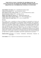 INICIATIVAS PARA CONSTRUÇÃO DO PROGRAMA DE CAPACITAÇÃO DE USUÁRIOS DO SISTEMA DE BIBLIOTECAS E ARQUIVOS DA UNIVERSIDADE FEDERAL FLUMINENSE