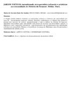 JARDIM POÉTICO: INCENTIVANDO AS EXPRESSÕES CULTURAIS E ARTÍSTICAS NA COMUNIDADE DO DISTRITO DE ICOARACI. BELÉM- PARÁ.