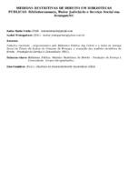 MEDIDAS RESTRITIVAS DE DIREITO EM BIBLIOTECAS PÚBLICAS: BIBLIOTECONOMIA, PODER JUDICIÁRIO E SERVIÇO SOCIAL EM BRUSQUE/SC