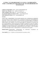 """O TEMA """"VULNERABILIDADE"""" NA SCIELO: CONTRIBUIÇÕES PARA A CONSTRUÇÃO CONCEITUAL DE """"VULNERABILIDADE EM INFORMAÇÃO"""""""