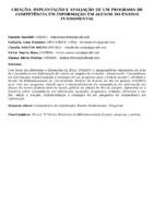 CRIAÇÃO, IMPLANTAÇÃO E AVALIAÇÃO DE UM PROGRAMA DE COMPETÊNCIA EM INFORMAÇÃO EM ALUNOS DO ENSINO FUNDAMENTAL