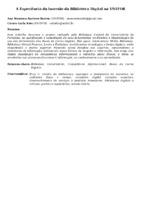 A EXPERIÊNCIA DA IMERSÃO DA BIBLIOTECA DIGITAL NA UNIFOR