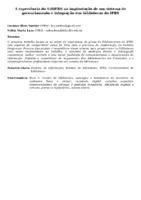 A EXPERIÊNCIA DO SIBIFRS NA IMPLANTAÇÃO DE UM SISTEMA DE GERENCIAMENTO E INTEGRAÇÃO DAS BIBLIOTECAS DO IFRS
