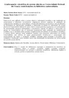 A INFORMAÇÃO  CIENTÍFICA DE ACESSO ABERTO NA UNIVERSIDADE FEDERAL DO CEARÁ: CONTRIBUIÇÕES DA BIBLIOTECA UNIVERSITÁRIA