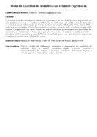 CLUBE DO LIVRO FORA DA BIBLIOTECA: UM RELATO DE EXPERIÊNCIA