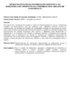 DEMOCRATIZAÇÃO DA INFORMAÇÃO CIENTÍFICA NA BIBLIOTECA DO INSTITUTO DO CÉREBRO/UFRN: RELATO DE EXPERIÊNCIA