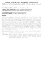 DEPÓSITO REMOTO DE TESES E DISSERTAÇÕES: PROTÓTIPO PARA A BIBLIOTECA UNIVERSITÁRIA DA UNIVERSIDADE FEDERAL DE SANTA CATARINA