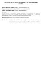 DIVULGAÇÃO DA COLEÇÃO MEMÓRIA DA BSEN EM MEIO DIGITAL