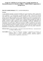 GRUPO DE TRABALHO LIVROS IMPRESSOS, COMITÊ BRASILEIRO DE DESENVOLVIMENTO DE COLEÇÕES (CBDC) - CBBU/FEBAB: IMPRESSÕES E PERSPECTIVAS.