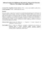 INFORMATIZAÇÃO DAS BIBLIOTECAS DO INSTITUTO FEDERAL DE EDUCAÇÃO, CIÊNCIA E TECNOLOGIA FARROUPILHA (IFFAR)