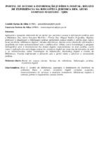 PORTAL DE ACESSO A INFORMAÇÃO JURÍDICA DIGITAL: RELATO DE EXPERIÊNCIA NA BIBLIOTECA JURÍDICA DES. AÉCIO SAMPAIO MARINHO - TJRN