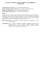 SERVIÇO DE REFERÊNCIA VIRTUAL: ANÁLISE EM UMA BIBLIOTECA UNIVERSITÁRIA