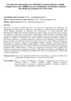SERVIÇOS DE INFORMAÇÃO EM BIBLIOTECAS UNIVERSITÁRIAS: ESTUDO COMPARATIVO ENTRE BIBLIOTECAS DE INSTITUIÇÕES DE ENSINO SUPERIOR DA CIDADE DE JUAZEIRO DO NORTE (CE)