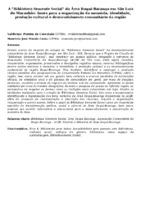 """A """"BIBLIOTECA SEMENTE SOCIAL"""" DA ÁREA ITAQUI-BACANGA EM SÃO LUÍS DO MARANHÃO: BASES PARA A ORGANIZAÇÃO DA MEMÓRIA, IDENTIDADE, PRODUÇÃO CULTURAL E DESENVOLVIMENTO COMUNITÁRIO DA REGIÃO"""