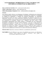 ACESSIBILIDADE INFORMACIONAL PARA USUÁRIOS COM DEFICIÊNCIA INTELECTUAL NA BIBLIOTECA