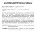 ACESSIBILIDADE INFORMACIONAL PARA USUÁRIOS COM TRANSTORNO DE ESPECTRO AUSTISTA NA BIBLIOTECA