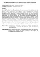 ANÁLISE DA COMPETÊNCIA EM INFORMAÇÃO NA EDUCAÇÃO MÉDICA