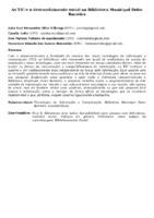 AS TIC E O DESENVOLVIMENTO SOCIAL NA BIBLIOTECA MUNICIPAL DOLOR BARREIRA