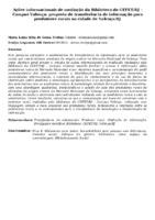 AÇÕES INFORMACIONAIS DE MEDIAÇÃO DA BIBLIOTECA DO CEFET/RJ - CAMPUS VALENÇA: PROPOSTA DE TRANSFERÊNCIA DE INFORMAÇÃO PARA PRODUTORES RURAIS NA CIDADE DE VALENÇA/RJ