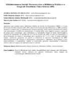 BIBLIOTECONOMIA SOCIAL: PARCERIA ENTRE A BIBLIOTECA PÚBLICA E O GRUPO DE ESCOTEIROS CHICO SCIENCE (PE)