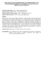 IMPLANTAÇÃO DE UM PROGRAMA DE BIBLIOTERAPIA NA UNIVERSIDADE FEDERAL DA PARAÍBA: RELATOS DE UM PROJETO DE EXTENSÃO