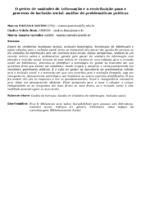 O GESTOR DE UNIDADES DE INFORMAÇÃO E A CONTRIBUIÇÃO PARA O PROCESSO DE INCLUSÃO SOCIAL: ANÁLISE DE PROBLEMÁTICAS PRÁTICAS