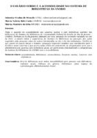 O USUÁRIO SURDO E A ACESSIBILIDADE NO SISTEMA DE BIBLIOTECAS DA UNIRIO