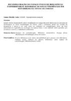 RECONFIGURAÇÃO DO ESPAÇO FÍSICO DE BIBLIOTECAS UNIVERSITÁRIAS ALINHADAS ÀS NOVAS TENDÊNCIAS EM METODOLOGIAS ATIVAS DE ENSINO