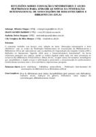 REFLEXÕES SOBRE EDUCAÇÃO UNIVERSITÁRIA E LIVRO ELETRÔNICO PARA ATINGIR AS METAS DA FEDERAÇÃO INTERNACIONAL DE ASSOCIAÇÕES DE BIBLIOTECÁRIOS E BIBLIOTECAS (IFLA)