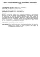 """IGUAIS NO MUNDO DAS DIFERENÇAS"""": ACESSIBILIDADE ATITUDINAL NA BCJC"""