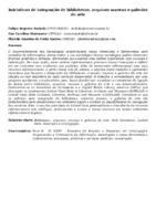 INICIATIVAS DE INTEGRAÇÃO DE BIBLIOTECAS, ARQUIVOS MUSEUS E GALERIAS DE ARTE