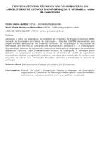 PROCESSAMENTOS TÉCNICOS NAS XILOGRAVURAS DO LABORATÓRIO DE CIÊNCIA DA INFORMAÇÃO E MEMÓRIA: RELATO DE EXPERIÊNCIA