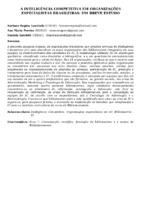 A INTELIGÊNCIA COMPETITIVA EM ORGANIZAÇÕES ESPECIALISTAS BRASILEIRAS: UM BREVE ESTUDO