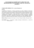 A SOCIEDADE DA INFORMAÇÃO NO DISCURSO DOS PESQUISADORES EM EDUCAÇÃO: ANÁLISE DE CONTEÚDO DE PERIÓDICOS