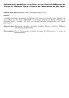 EDITORAÇÃO DE PERIÓDICOS CIENTÍFICOS: A EXPERIÊNCIA DA BIBLIOTECA DA ESCOLA DE EDUCAÇÃO FÍSICA E ESPORTE DA UNIVERSIDADE DE SÃO PAULO