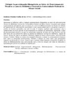 ESTÁGIO SUPERVISIONADO OBRIGATÓRIO NO SETOR DE PROCESSAMENTO TÉCNICO: O CASO DA BIBLIOTECA CENTRAL DA UNIVERSIDADE FEDERAL DE MINAS GERAIS