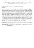 O MODELO ORGANIZACIONAL DO SISTEMA DE BIBLIOTECAS (SISBIB) DA UNIVERSIDADE FEDERAL DO TOCANTINS (UFT)