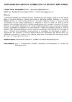 RETRATOS DOS ARTIGOS PUBLICADOS NA REVISTA BIBLIOMAR