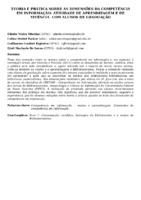 TEORIA E PRÁTICA SOBRE AS DIMENSÕES DA COMPETÊNCIA EM INFORMAÇÃO: ATIVIDADE DE APRENDIZAGEM E DE VIVÊNCIA  COM ALUNOS DE GRADUAÇÃO