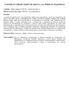 A GESTÃO DA COLEÇÃO RACHEL DE QUEIROZ: UM RELATO DE EXPERIÊNCIA